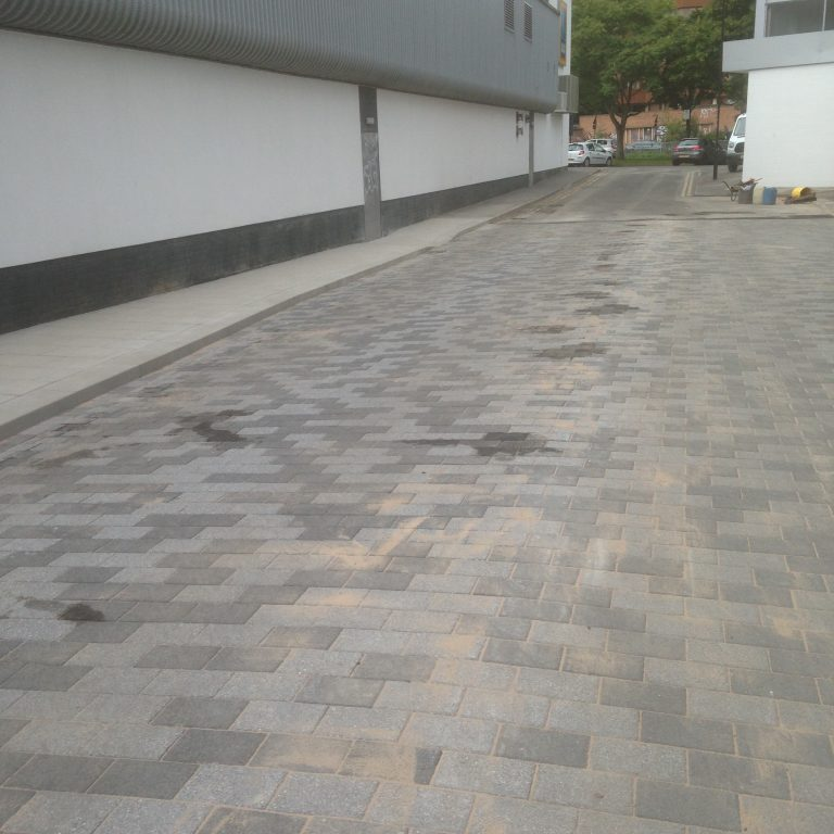 Paving works at New Era, Sheffield