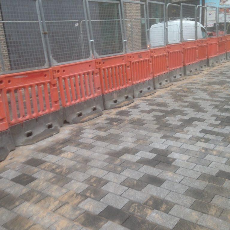 Paving works at New Era, Sheffield