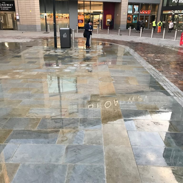 Paving at Broadway Shopping Centre Bradford